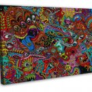 Psychedelic Trippy Art Wall Decor 16x12 Framed Canvas Print