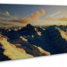 Alps Snow Mountains Wall Decor 16x12 Framed Canvas Print