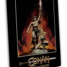 Arnold Schwarzenegger Conan The Barbarian Movie 16x12 Framed Canvas Print
