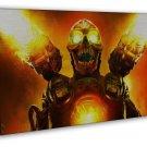 The Ultimate Doom 4 Monster Game Art 16x12 Framed Canvas Print