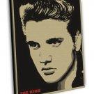 Elvis Presley Rock And Roll Music Singer Vintage 16x12 FRAMED CANVAS Print