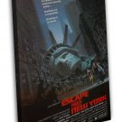 Escape From New York Classic Movie 16x12 Framed Canvas Print