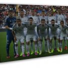 Cristiano Ronaldo CR 7 Real Madrid Soccer Gareth Bale 16x12 FRAMED CANVAS Print