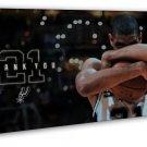 Tim Duncan San Antonio Spurs Basketball Star 16x12 FRAMED CANVAS Print