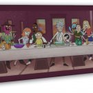 Rick And Morty Cartoon Anime 16x12 Framed Canvas Print