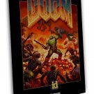 The Ultimate Doom 4 New Game Art 16x12 Framed Canvas Print
