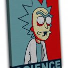 Rick And Morty Cartoon Anime Vintage Style 16x12 FRAMED CANVAS Print