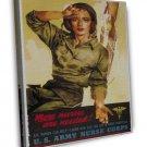 Wwii Us Army Nurse Corps War Propoganda Art 16x12 Framed Canvas Print