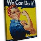 Wwii We Can Do It War Propoganda Art 16x12 Framed Canvas Print