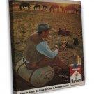 Vintage Marlboro Cowboy Cigarette Smoking Ad Art 16x12 Framed Canvas Print