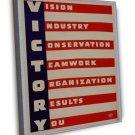 Wwii Victory War Wpa Art 16x12 Framed Canvas Print
