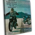 Vintage Harley Davidson S Motorcycle Ad Art 16x12 Framed Canvas Print