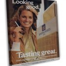 Vintage Benson And Hedges Tasting Cigarette Smoking Ad Art 16x12 Framed Canvas P