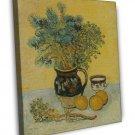 Van Gogh Still Life Majolica Jug With Wildflowers 16x12 Framed Canvas Print