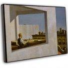 Edward Hopper Office In A Small City Fine Art 16x12 Framed Canvas Print