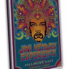 Jimi Hendrix Experience Psychedelic Image 16x12 Framed Canvas Print