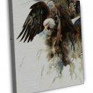 Eagle Bird Watercolour Image 16x12 Framed Canvas Print