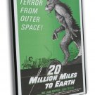 20 Million Miles To Earth 1971 Vintage Movie FRAMED CANVAS Print 5