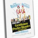 Gentlemen Prefer Blondes 1953 Vintage Movie FRAMED CANVAS Print 7