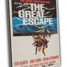 The Great Escape 1963 Vintage Movie Framed Canvas Print 4