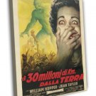 20 Million Miles To Earth 1960 Vintage Movie FRAMED CANVAS Print 4