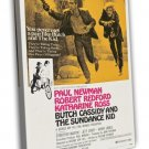 Butch Cassidy And The Sundance Kid 1969 Vintage Movie FRAMED CANVAS Print