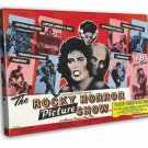 The Rocky Horror Picture Show 1975 Vintage Movie FRAMED CANVAS Print