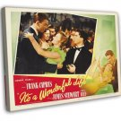 It S A Wonderful Life 1946 Vintage Movie FRAMED CANVAS Print 31