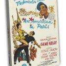 An American In Paris 1951 Vintage Movie FRAMED CANVAS Print