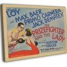 The Prizefighter And The Lady 1933 Vintage Movie FRAMED CANVAS Print