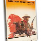 The Outlaw Josey Wales 1976 Vintage Movie Framed Canvas Print