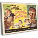 Abbott And Costello Meet Frankenstein 1956 Vintage Movie FRAMED CANVAS Print 9