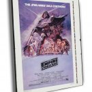The Empire Strikes Back 1980 Vintage Movie FRAMED CANVAS Print 3