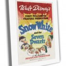 Snow White And The Seven Dwarfs 1937 Vintage Movie FRAMED CANVAS Print 31