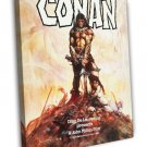 Conan The Barbarian 1982 Vintage Movie FRAMED CANVAS Print