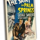 The Saint In Palm Springs 1941 Vintage Movie FRAMED CANVAS Print