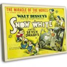 Snow White And The Seven Dwarfs 1937 Vintage Movie FRAMED CANVAS Print 20