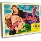 The Return Of The Vampire 1943 Vintage Movie FRAMED CANVAS Print