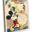 Mickey Mouse Stock Poster 1933 Vintage Movie FRAMED CANVAS Print 11