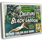 Creature From The Black Lagoon 1954 Vintage Movie FRAMED CANVAS Print 22
