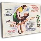 It S A Wonderful Life 1946 Vintage Movie FRAMED CANVAS Print 9