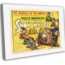 Snow White And The Seven Dwarfs 1937 Vintage Movie FRAMED CANVAS Print 13