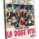 La Dolce Vita 1959 Vintage Movie Framed Canvas Print 7