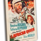 The African Queen 1952 Vintage Movie Framed Canvas Print
