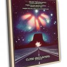 Close Encounters Of The Third Kind 1977 Vintage Movie FRAMED CANVAS Print