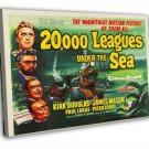 20 000 Leagues Under The Sea 1954 Vintage Movie FRAMED CANVAS Print 4