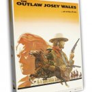 The Outlaw Josey Wales 1976 Vintage Movie Framed Canvas Print 2