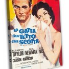 Cat On A Hot Tin Roof 1966 Vintage Movie Framed Canvas Print 2