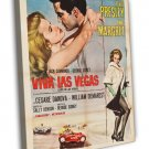 Viva Las Vegas 1964 Vintage Movie Framed Canvas Print