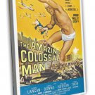 The Amazing Colossal Man 1957 Vintage Movie FRAMED CANVAS Print